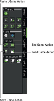 Game Actions from the Main2 tab.