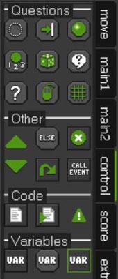 The Control tab.