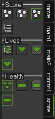 The Score tab on GameMaker: Studio.