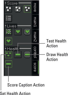 Health Actions from the Score tab.