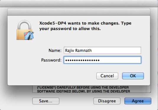 Allow Xcode access to your Macbook.