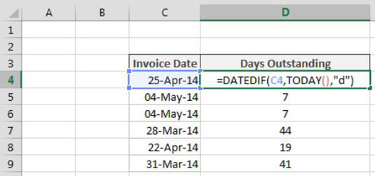Calculate days between dates in Sydney