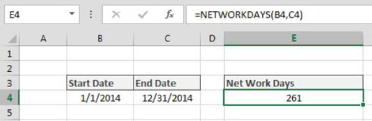 Calculating the Number of Days between Two Dates in Excel