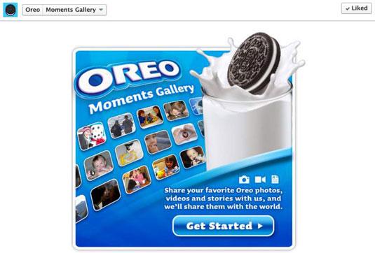 Oreo's Facebook App.