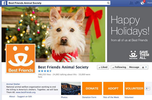 Best Friends Animal Society's Facebook page.
