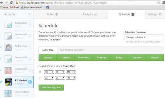Screenshot of Buffer's website.