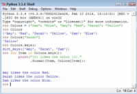 An example of how to use the keys in a Python dictionary as part of the output.