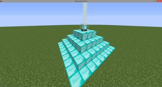 minecraft diamond beacon