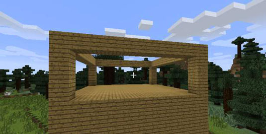 how to build a 2 story house in Minecraft