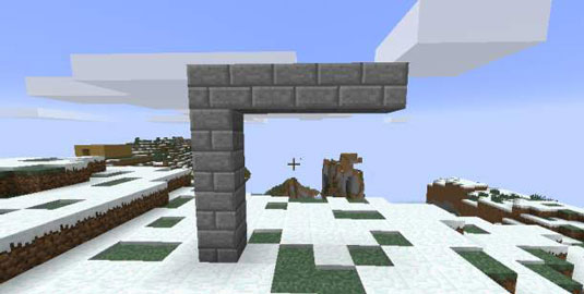 how to make an arch in minecraft