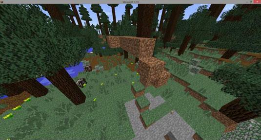minecraft garden with plants