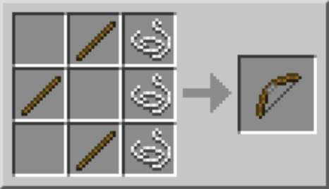 Craft A Bow And Arrows In Minecraft