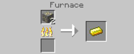 how to make a gold ingot in minecraft