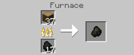 how to smelt charcoal in minecraft