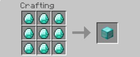 how to make diamond blocks in minecraft