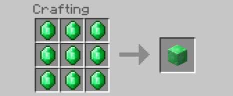 emerald block recipe minecraft