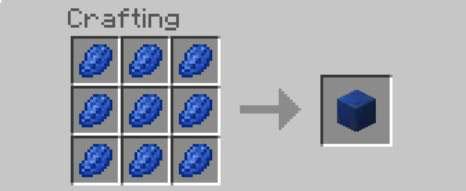 lapis lazuli block recipe minecraft