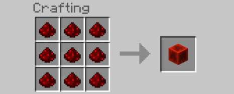 how to make redstone blocks in minecraft