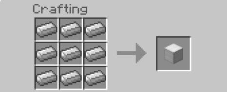 iron block recipe minecraft