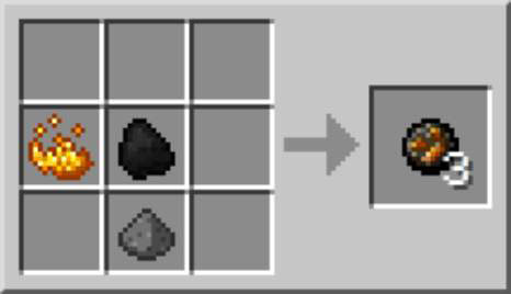 how to make a fire charge in minecraft
