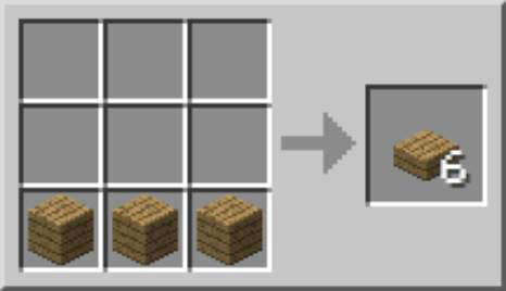 how to make slabs in minecraft