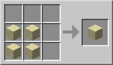 crafting sandstone blocks in minecraft