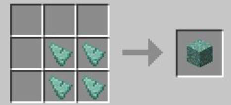 how to make prismarine blocks in minecraft