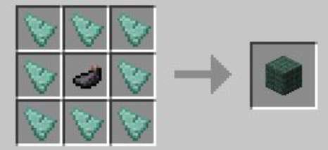 minecraft dark prismarine block crafting recipe