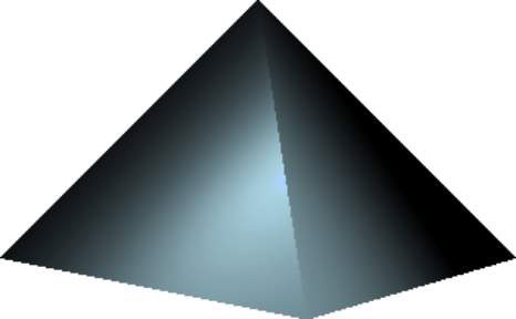 A square pyramid in JavaFX.