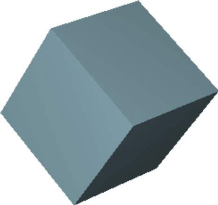 A rotated 3d box made on JavaFX