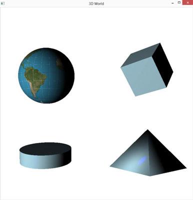 A sample 3D program in JavaFX.