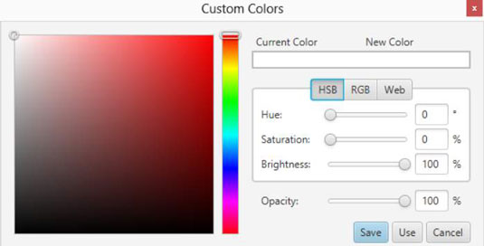 Creating a custom color in JavaFX.