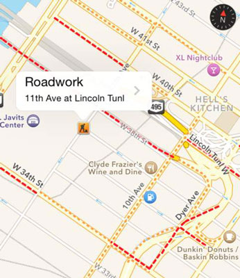 How To Use The Iphone Maps App To Get Live Traffic Information Dummies