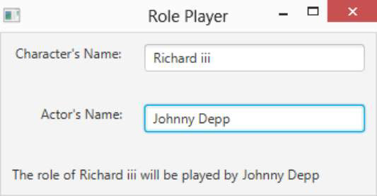 A dialog box in a program allows you to choose what actor will play a role in a movie.