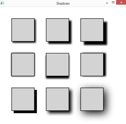 JavaFX: How to Add Shadows - dummies