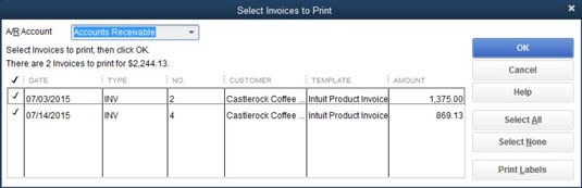 1Display The Create Invoices Window (choose Customers→Create Invoices),  Click The Arrow Next To The Print Button, And Choose Batch From The  Drop Down List.  How To Print Invoices