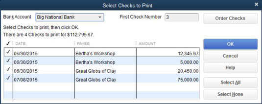 image relating to Printable Checks for Quickbooks called How in direction of Print a Verify with QuickBooks 2015 - dummies
