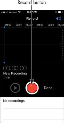 record audio on iphone how to record audio and voice memos on your iphone 6 dummies 15933
