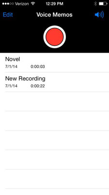 How to Record Audio and Voice Memos on Your iPhone 6 - dummies