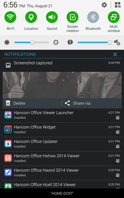 The Notification Bar and Panel on Your Tab 4 NOOK - dummies