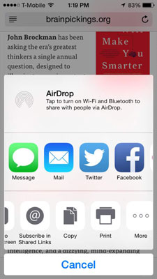 How to Share Web Page Links on Your iPhone - dummies
