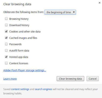 Chromebook erase your browsing history dummies image0g ccuart Images