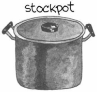 A hand-drawn stockpot.