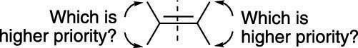 Assigning E/Z stereochemistry.