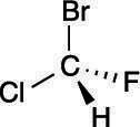 A chiral molecule.