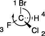 The R stereochemistry.