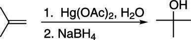 The oxymercuration-demercuration of an alkene.