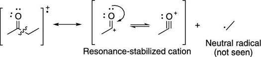 Carbonyl alpha cleavage.