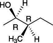 A molecule with two chiral centers.