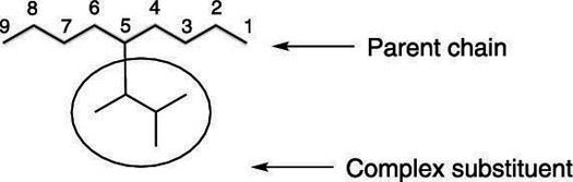 An alkane with a complex substituent.